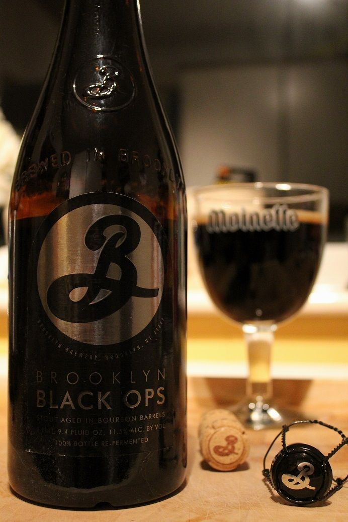 Brewery: Brooklyn, New York USA Name: Black Ops ABV: 11.5% Style: Imperial stout Similar to Malheur's 'Dark Brut'. Light and spritzy, effervescent coffee and choc blends with the added light-touch of bourbon warmth, vanilla and oak – nothing is over-powering, it's all in proportion. Impressive beer but prefer the 'Dark Brut' which gives more dark chocolate. Not for the faint-hearted at the price but worth it as a special treat. [8]