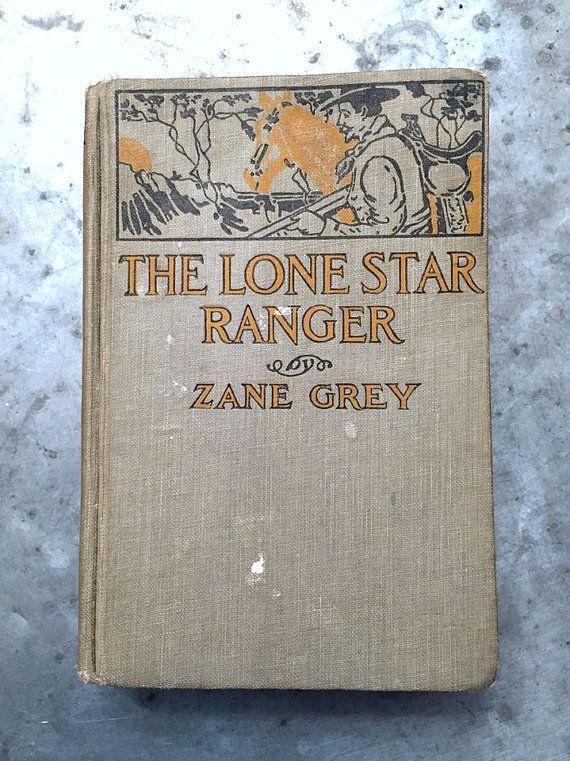 Antique Book Zane Grey Book Lone Star by VintageJunkInMyTrunk