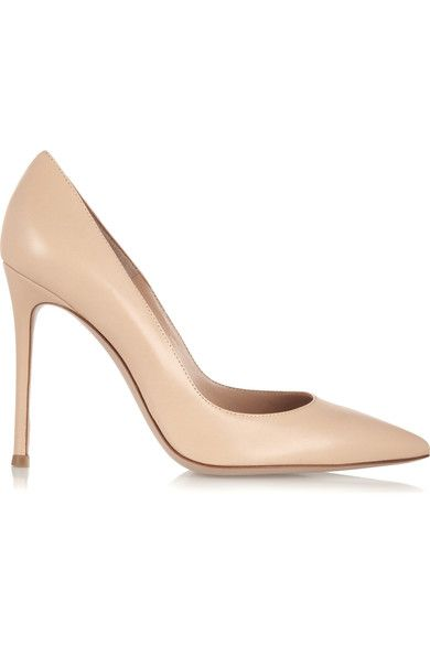 Gianvito Rossi - 105 Leather Pumps - Beige - IT39