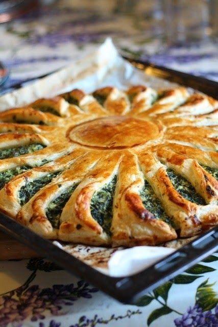 Senza Sale in Zucca: Torta fiore con verdure e ricotta...da Sale e pepe