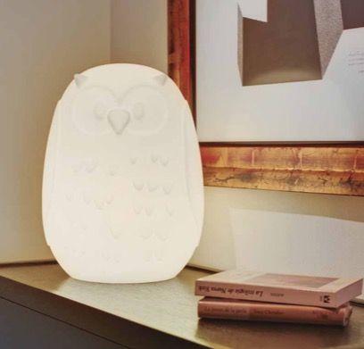 Lámpara forma de búho con luz interior
