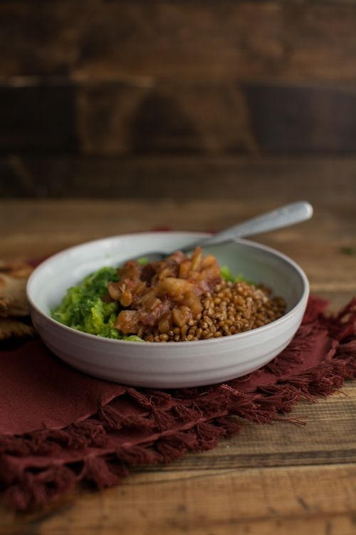Green Curry Spaghetti Squash with Apple Chutney | Recipe