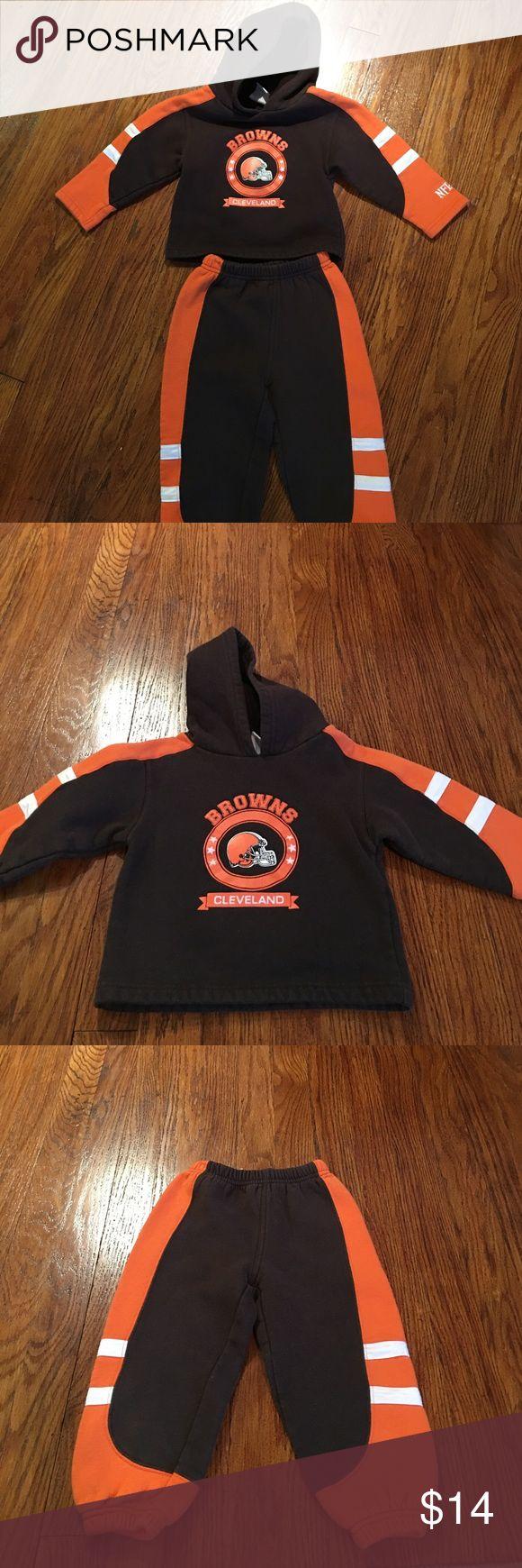 Cleveland Browns sweatsuit Minimal wear. Size 2T. nfl Matching Sets