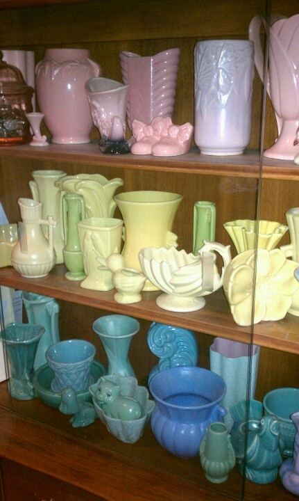 McCoy Pottery and others.  My favorites!