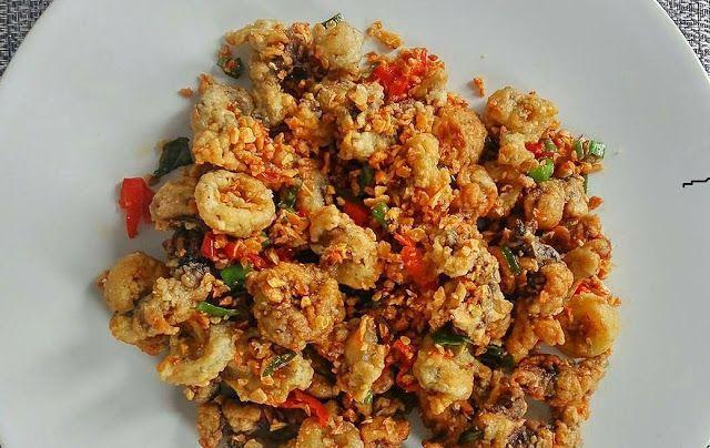Krokante calamares Recepten Spicy Uien
