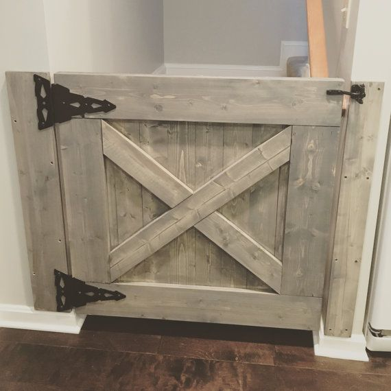 This Farmhouse Baby Gate Can Be Customized To Fit Any Stairway, Doorway Oru2026