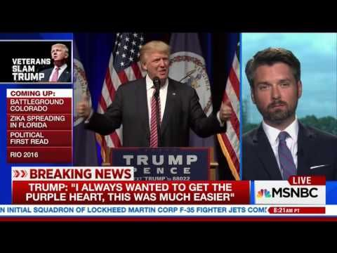 (26) A Veteran's response to Donald Trump's comments about the Purple Heart, 8.3.16 - YouTube