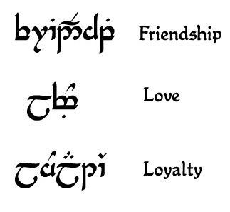 ALL Elvish tattoo requests here - Lord of the Rings Fanatics Forum - Page 1 -- Since Im a HUGE LOTR fan, Im considering getting a tattoo written in Elvish..