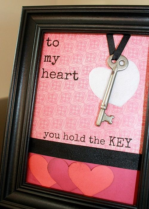 You hold the key to my heart frame. Mais