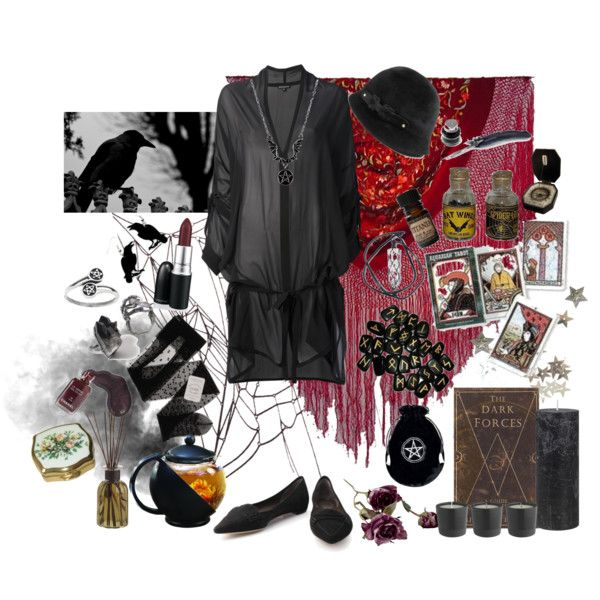"""Vintage Witch"" by morbid-octobur on Polyvore #vintage #wicca #pagan #witchy"
