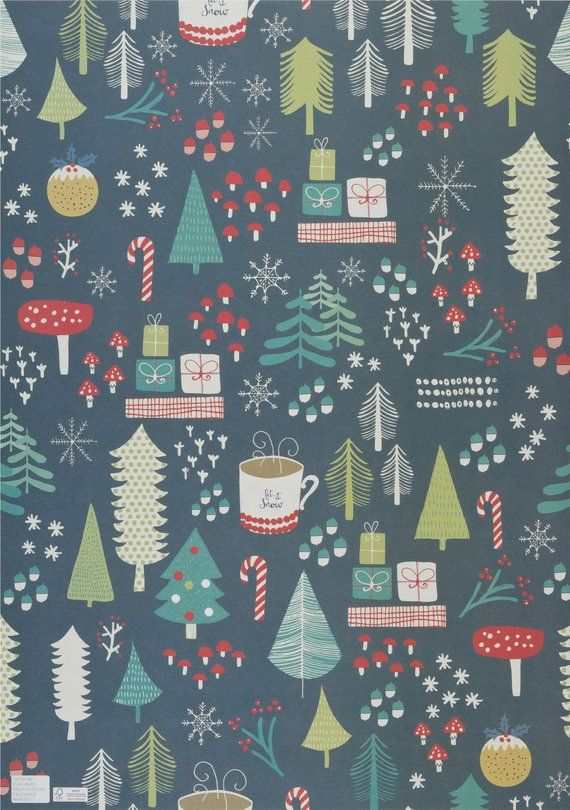 Christmas Wrapping Paper Dark Green Background Trees And Wallpaper Iphone Christmas Christmas Phone Wallpaper Cute Christmas Wallpaper