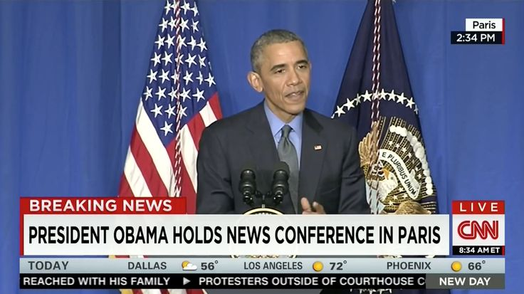 Obama press conference in Paris