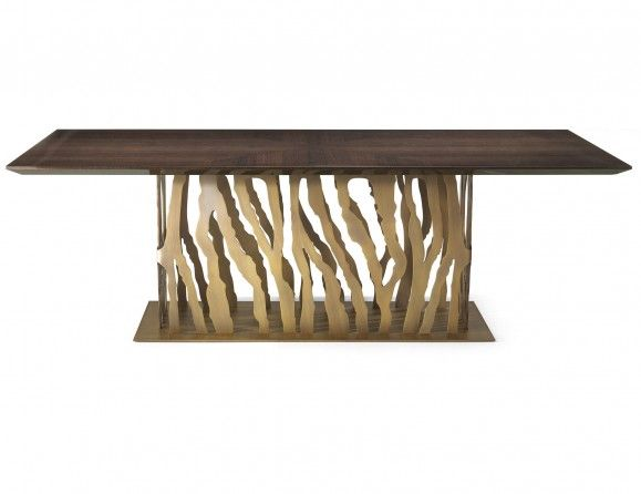 Nella Vetrina B-52 Roberto Cavalli Home Modern Luxury Italian Dining Table in Wenge Oak