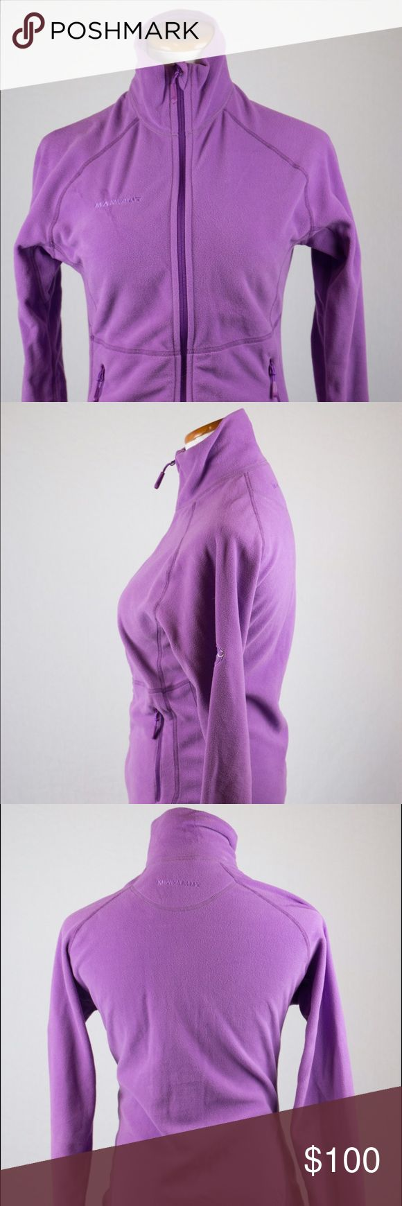Mammut Women's Zip Up Jacket This light Mammut fleece jacket is a small purple zip up. It is perfect for Fall's crisp weather and will keep you warm as a layer during Winter as well. SKU in warehouse is #823. Mammut Jackets & Coats