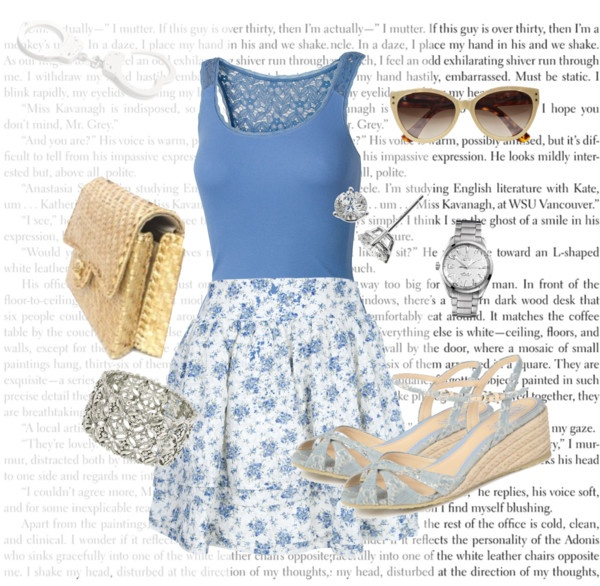 """""""Anastasia Steele's Outfit for the Honeymoon Day Trip to Saint-Paul-De-Vence, France"""" by bigbadbrookie on Polyvore"""