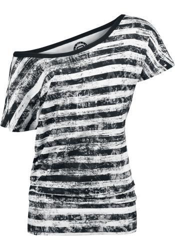 Striped Ladies Shirt - T-shirt van R.E.D. by EMP