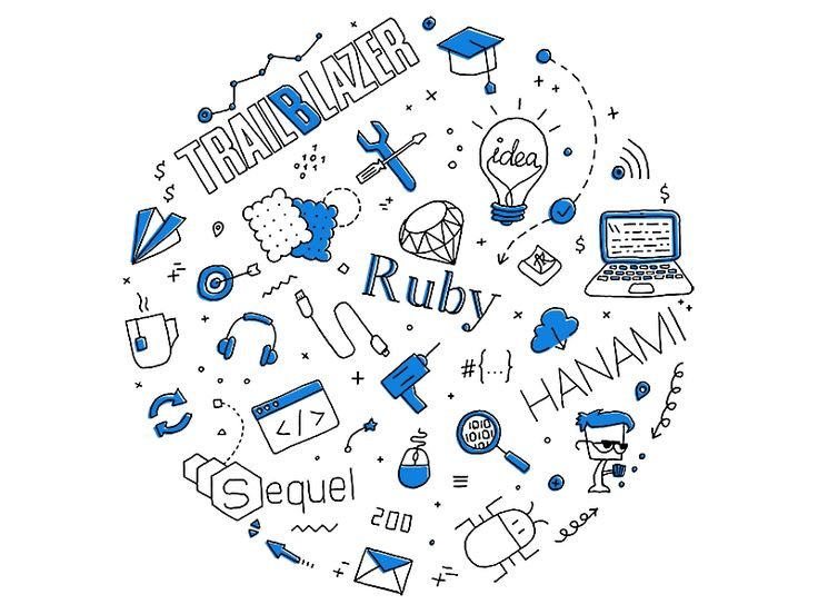 Ruby Development Doodle by Anna Koba - Dribbble