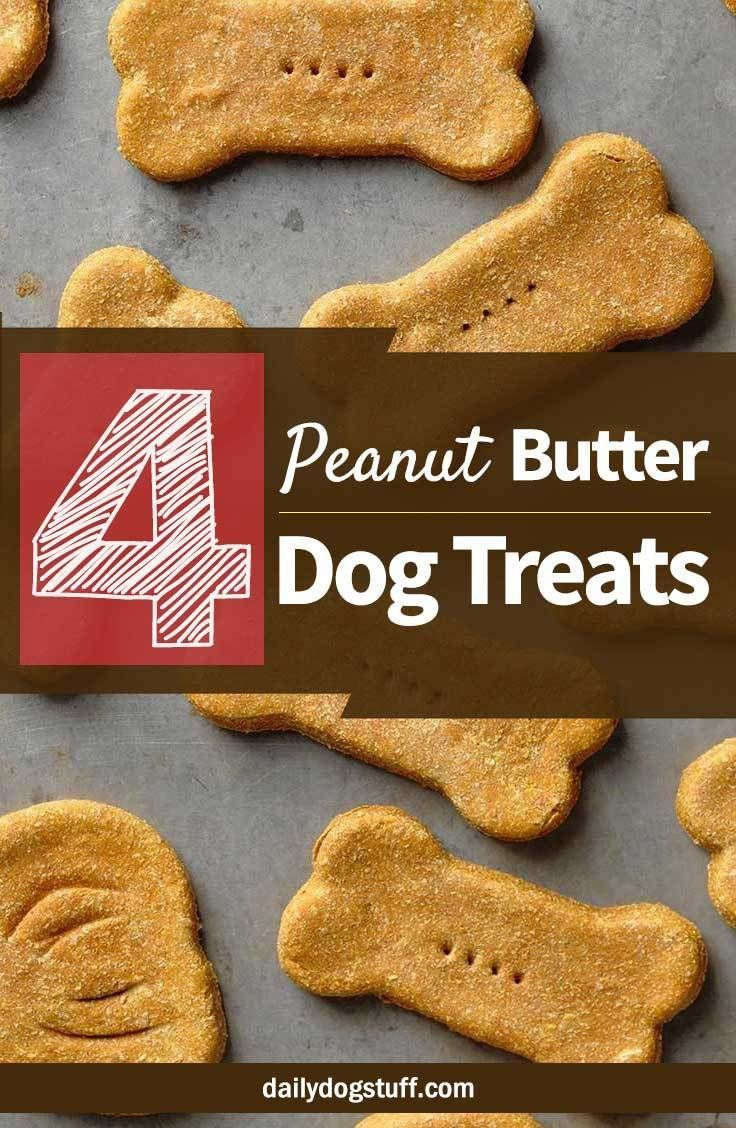 4 Homemade Peanut Butter Dog Treats Without Flour Peanut
