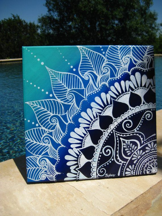 Henna on Canvas by KeepAustinDreaming on Etsy