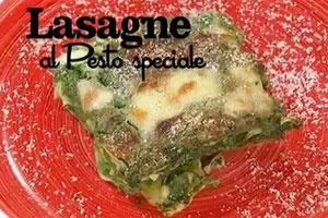 lasagne al pesto di spinaci