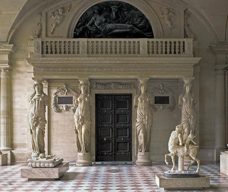 Image result for louvre sculpture room