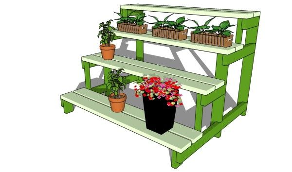 Plant stand plans free outdoor plans diy shed wooden - Ladder plant stand plans ...