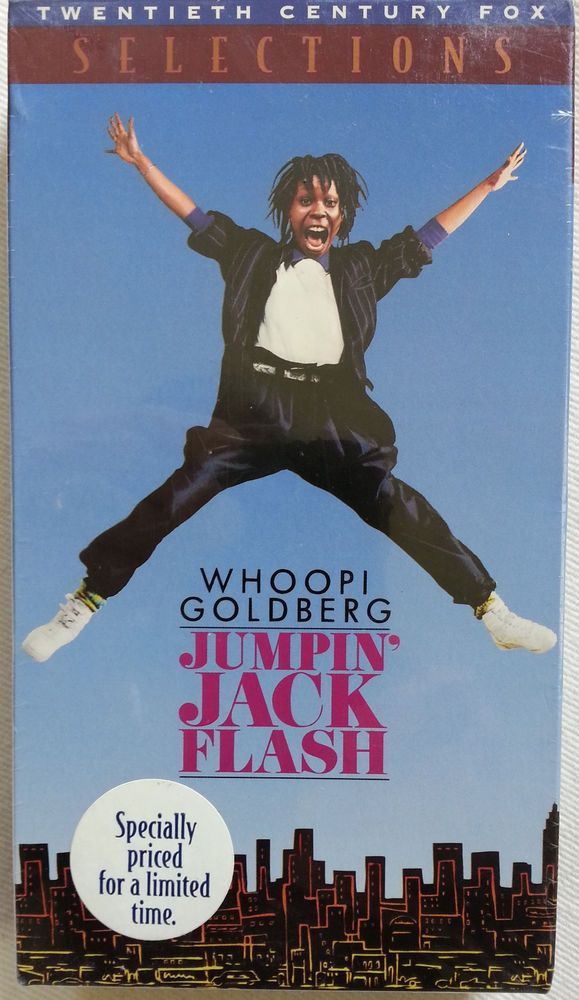 Jumpin' Jack Flash Movie VHS Whoopi Goldberg Jim Belushi Jon