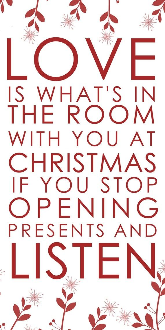 This Christmas quote is so lovely.