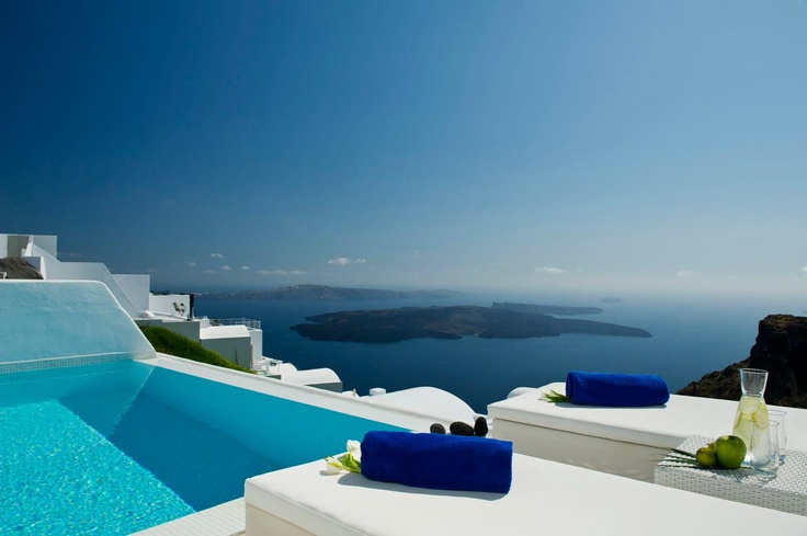 Welcome to Astra, your own personal Santorini suite paradise...