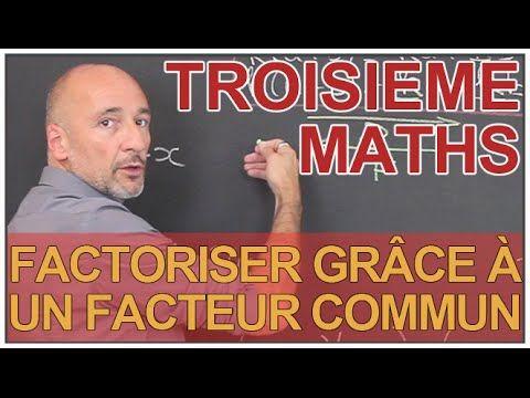 Factoriser grâce à un facteur commun - Exemples - Maths 3e - Les Bons Profs - YouTube