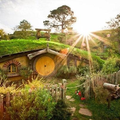 At Hobbiton, New Zealand.