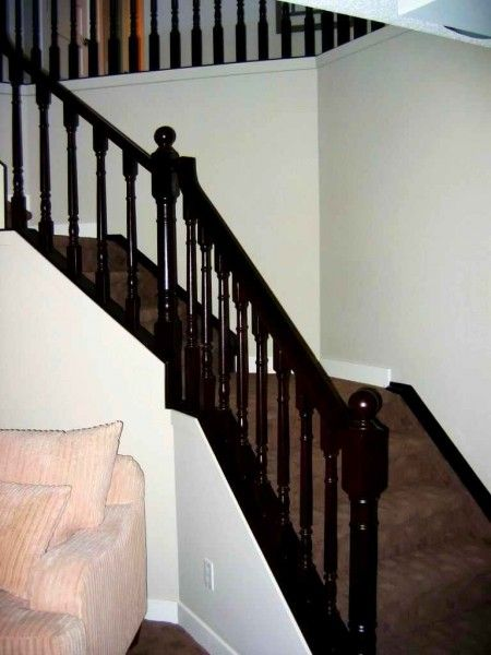 How to Stain Oak Stair Parts   Oak stairs, Parts of stairs ...