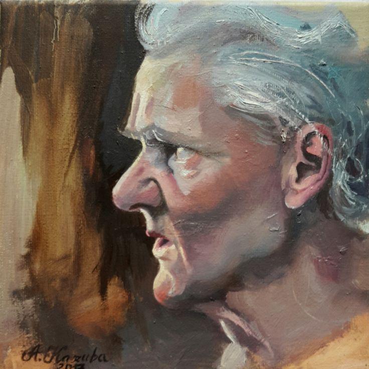 Portrait of Grandmother, 2017, oil on canvas.Agata Kaszuba
