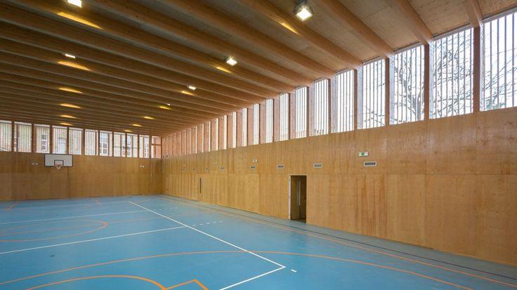 Matchbox+Elementary+School+Sports+Hall+/+Jovan+Mitrović, timber gym structure