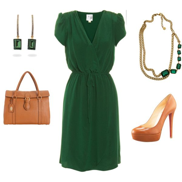 Emerald Work by ggdesigns on Polyvore featuring Beyond Vintage, Christian Louboutin, Fendi, Ben-Amun and Fantasy Jewelry Box