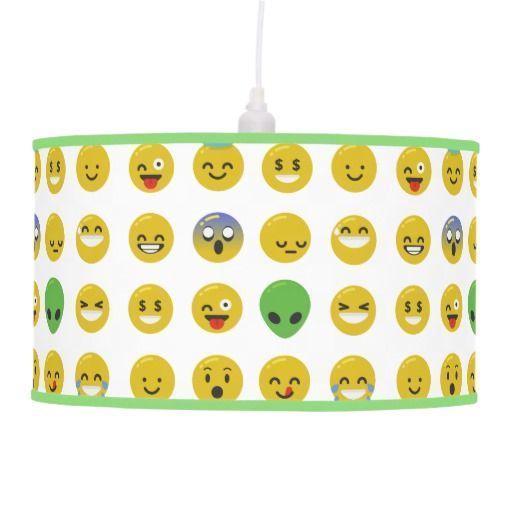 Emoji happy face lamp