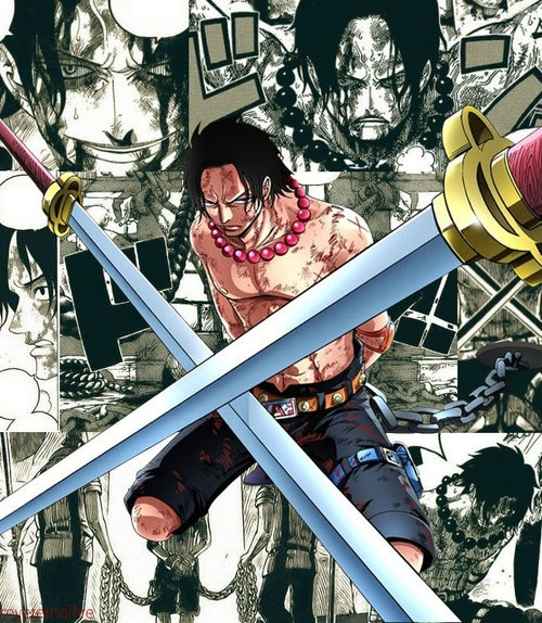 One Piece Impel Down: Ace In Marine Fort And Impel Down #one Piece
