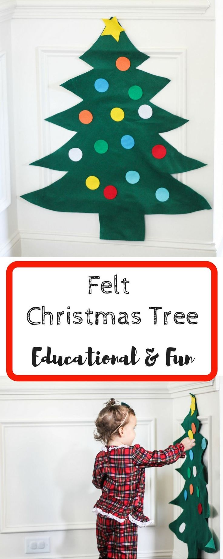 Felt Christmas Tree | Felt Tree | Felt Tree Decorating | Felt Wall | Educational Christmas Toys | Best Toddler Toys | Busy Little Izzy | Motherhood | Children Christmas Traditions #christmastraditions #christmasfelttree