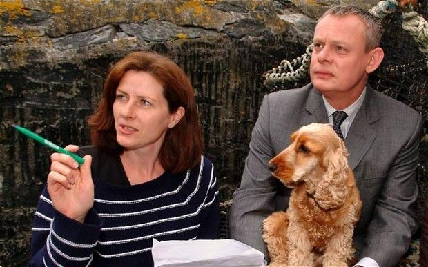 Martin Clunes plays doctor for real to aid wife - Telegraph