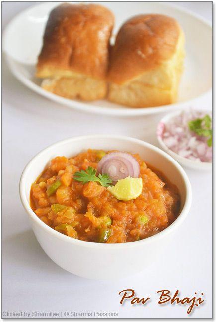 Pav Bhaji Recipe : http://www.sharmispassions.com/2011/07/pav-bhaji.html