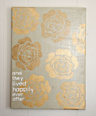 1521: Lived Happily Canvas DIY