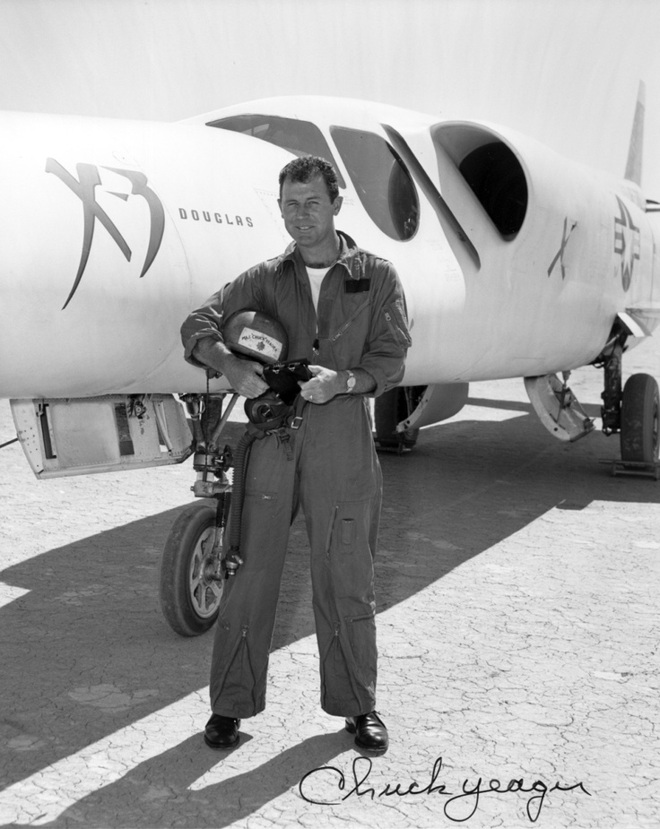 Douglas X-3 Stiletto Pilot Major Chuck Yeager, Edwards Air Force Base, 1953