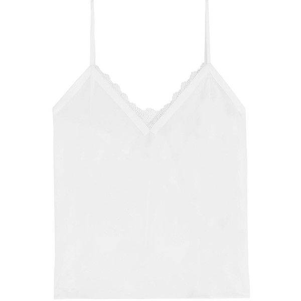 The Kooples Tank Top ($180) ❤ liked on Polyvore featuring tops, white, white tank top, white tank, the kooples, white top and white singlet