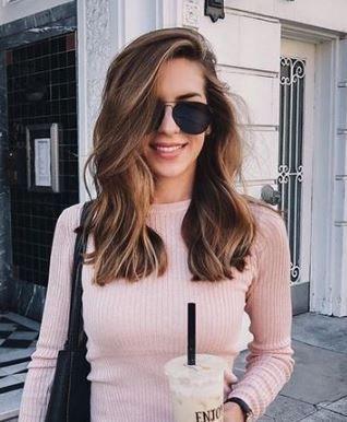 schulterlang Frisur Idee + Brünette # Frisuren # Haar # Schönheit