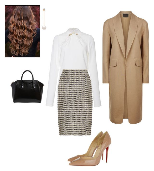 """""""Work"""" by cgraham1 on Polyvore featuring Cushnie Et Ochs, St. John, Christian Louboutin, Alexander Wang, Delfina Delettrez and Givenchy"""