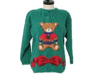 Bear: Green Sweater, Bow Stylin, Ugly Christmas Sweater, Ugly Holiday, Holiday Sweaters, Christmas Sweaters, Bear Ugly, Xmas Sweaters