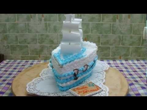 торт парусник - YouTube