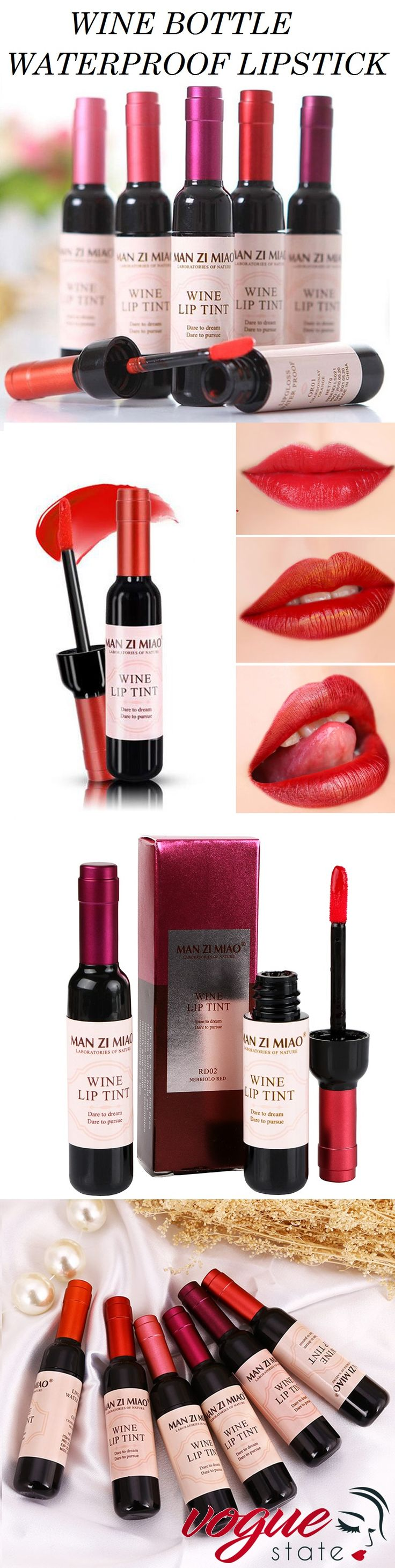 Get a sexy look with our new Wine Bottle Liquid Lipstick!