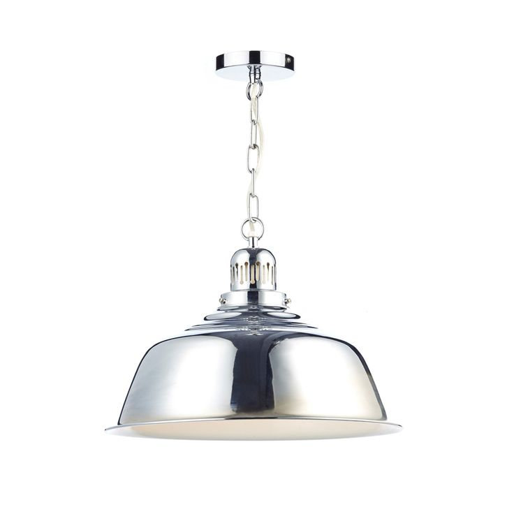 Dar Nan0150 Nantucket 1 Light Polished Chrome Ceiling Pendant