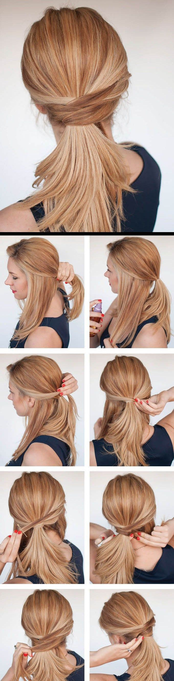 low cross ponytail for interview ready hair